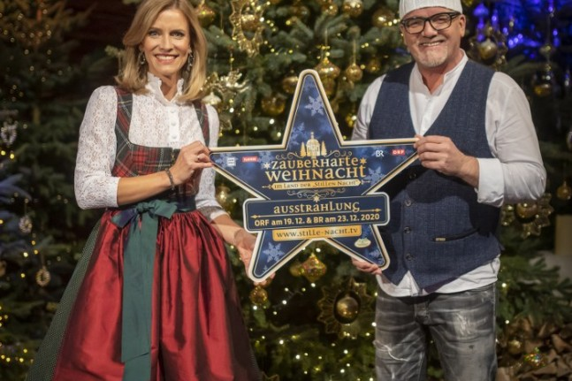 """Die Moderatoren Sonja Weissensteiner und """"DJ Ötzi"""" Gerry Friedle"""